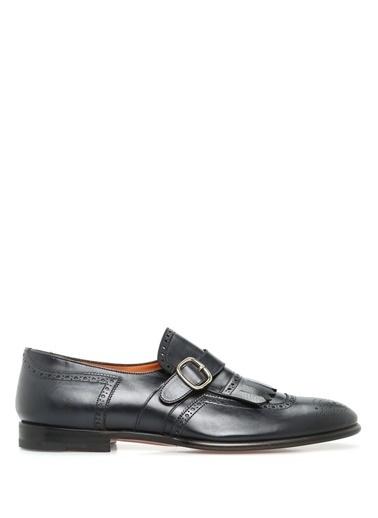 Santoni %100 Deri Loafer Ayakkabı Lacivert